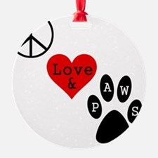 peacelovepaws1 Ornament