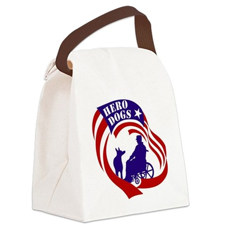 HeroDogsLogo_8x8 Canvas Lunch Bag