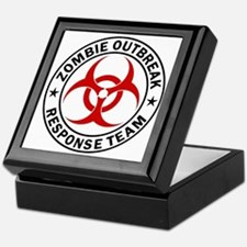 zombie-outbreak-white Keepsake Box