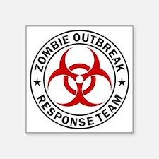 """zombie-outbreak-white Square Sticker 3"""" x 3"""""""