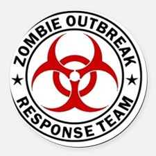 zombie-outbreak-carmagnet Round Car Magnet