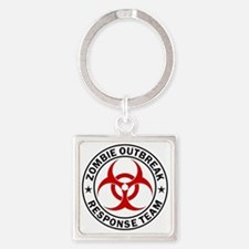 zombie-response-button Square Keychain