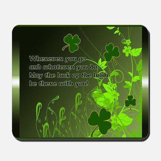 LUCK-OF-THE-IRISH-STADIUM-BLANKET Mousepad