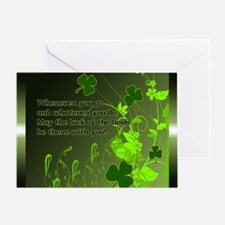 LUCK-OF-THE-IRISH-STADIUM-BLANKET Greeting Card
