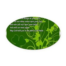 MAY-THE-ROAD-RISE-TO-MEET-YOU-STAD Oval Car Magnet