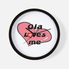 ola loves me  Wall Clock