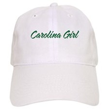 Green Carolina Girl Script Baseball Cap