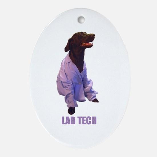 lab tech Oval Ornament