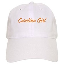 Orange Carolina Girl Script Baseball Cap