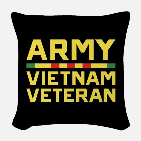 Army Vietnam Veteran Woven Throw Pillow