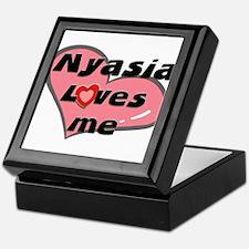 nyasia loves me Keepsake Box