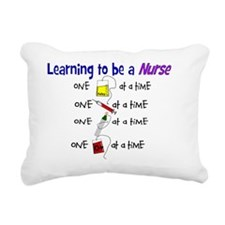 learning to be a nurse Rectangular Canvas Pillow