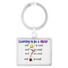 learning to be a nurse Landscape Keychain
