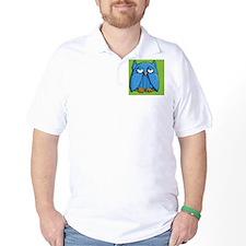 Coin Purse Aqua Owl green T-Shirt