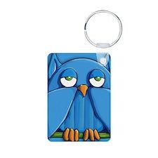 Coin Purse Aqua Owl aqua Keychains