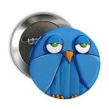 "Coin Purse Aqua Owl aqua 2.25"" Button"