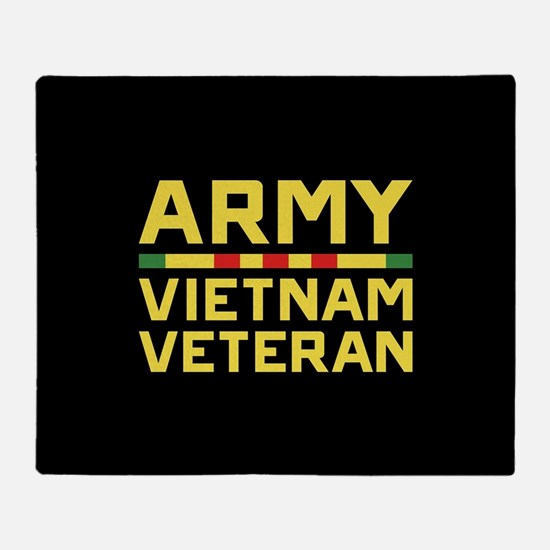 Army Vietnam Veteran Throw Blanket