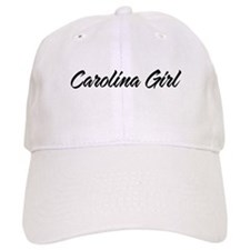 Black Carolina Girl Script Baseball Cap