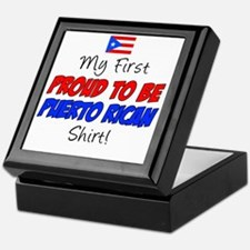 First Proud To Be Puerto Rican Keepsake Box