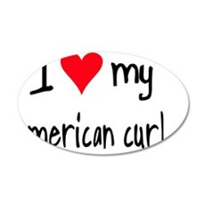 iheartamericancurl 35x21 Oval Wall Decal
