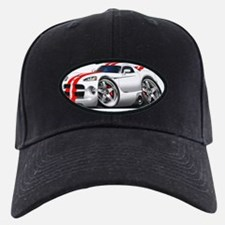1996-2004 Viper GTS White-Red Car Baseball Hat
