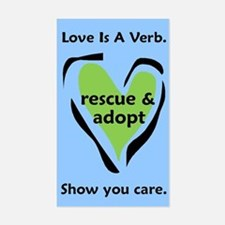 Love Is A Verb! Rectangle Decal