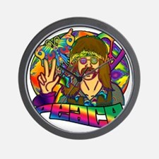 PSYCHEDELIC-PEACE Wall Clock