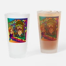PSYCHEDELIC-PEACE-STADIUM-BLANKET Drinking Glass