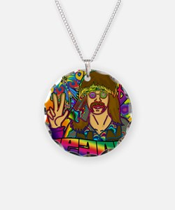 PSYCHEDELIC-PEACE-STADIUM-BL Necklace