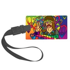 PSYCHEDELIC-PEACE-banner Luggage Tag