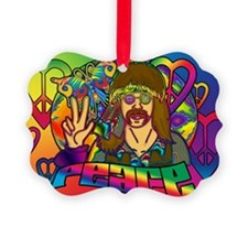 PSYCHEDELIC-PEACE-banner Ornament