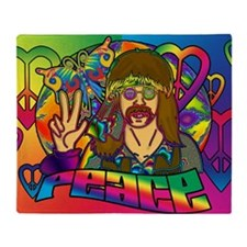 PSYCHEDELIC-PEACE-banner Throw Blanket