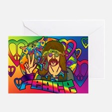 PSYCHEDELIC-PEACE-banner Greeting Card
