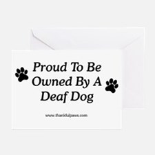 Proud Deaf Dog Owner Greeting Cards (Pk of 10)
