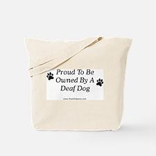 Proud Deaf Dog Owner Tote Bag