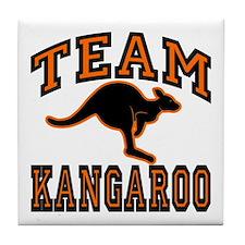 Team Kangaroo Orange Tile Coaster