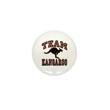 Team Kangaroo Orange Mini Button (10 pack)