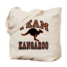 Team Kangaroo Orange Tote Bag