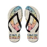 Imagine peace Flip Flops
