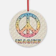 imaginepeaceSC1 Round Ornament