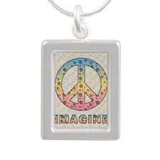 imaginepeaceSC1 Silver Portrait Necklace
