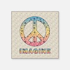 """imaginepeaceSC1 Square Sticker 3"""" x 3"""""""