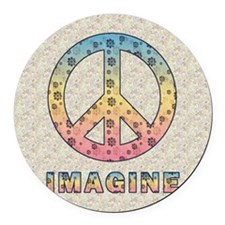 imaginepeaceSC1 Round Car Magnet