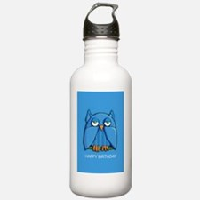 Card Aqua Owl aqua Bir Water Bottle