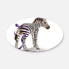 zebra with ribbon large Oval Car Magnet