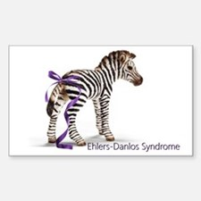zebra with ribbon large Decal