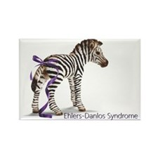 zebra with ribbon NO Background Rectangle Magnet
