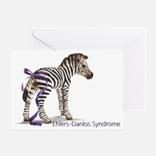 zebra with ribbon NO Background Greeting Card