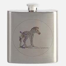 zebra with ribbon Oval Flask