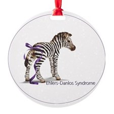 zebra with ribbon Oval Ornament